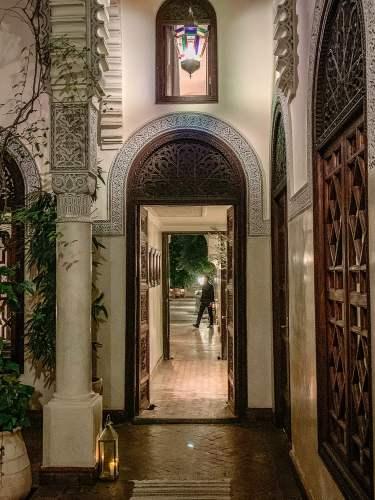 Villa des Orangers doorway
