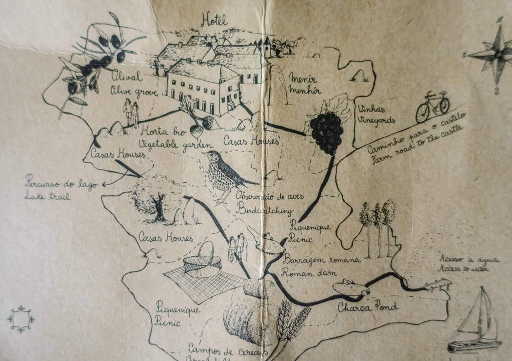 Sao Lourenco do Barrocal estate map