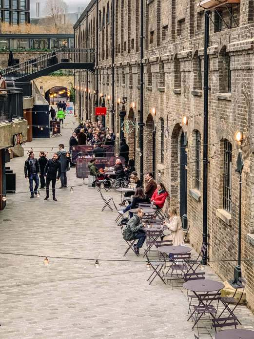 King's Cross has really changed. A great place to go walk around. Shops. Restaurants. Big open plazas.