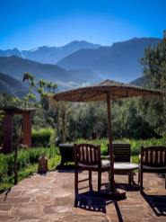 chairs with view Kasbah Bab Ourika