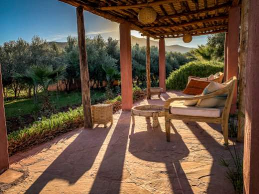 sunny rest area Kasbah Bab Ourika