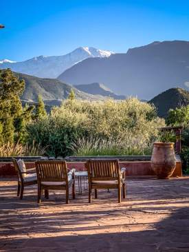 mountain views Kasbah Bab Ourika