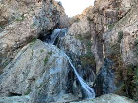 hiking to Setti Fatma Waterfalls top