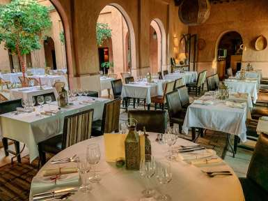 Main dining room Kasbah Bab Ourika