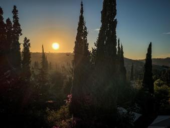 Le Jardin des Douars Mogador Suite sunset view with trees