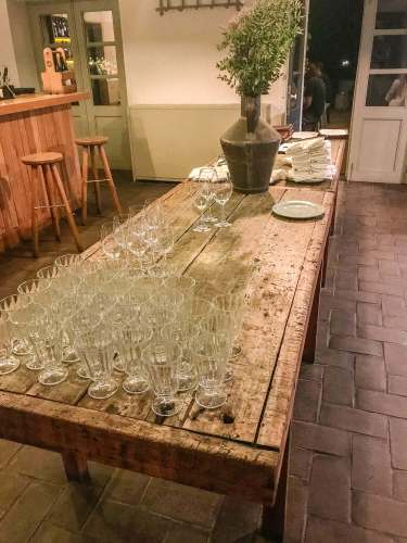 Sao Lourenco do Barrocal wine glasses