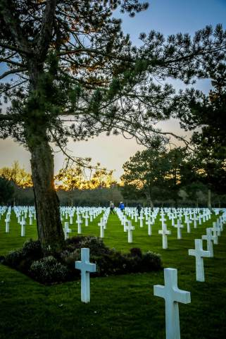 Normandy American Cemetery sunset