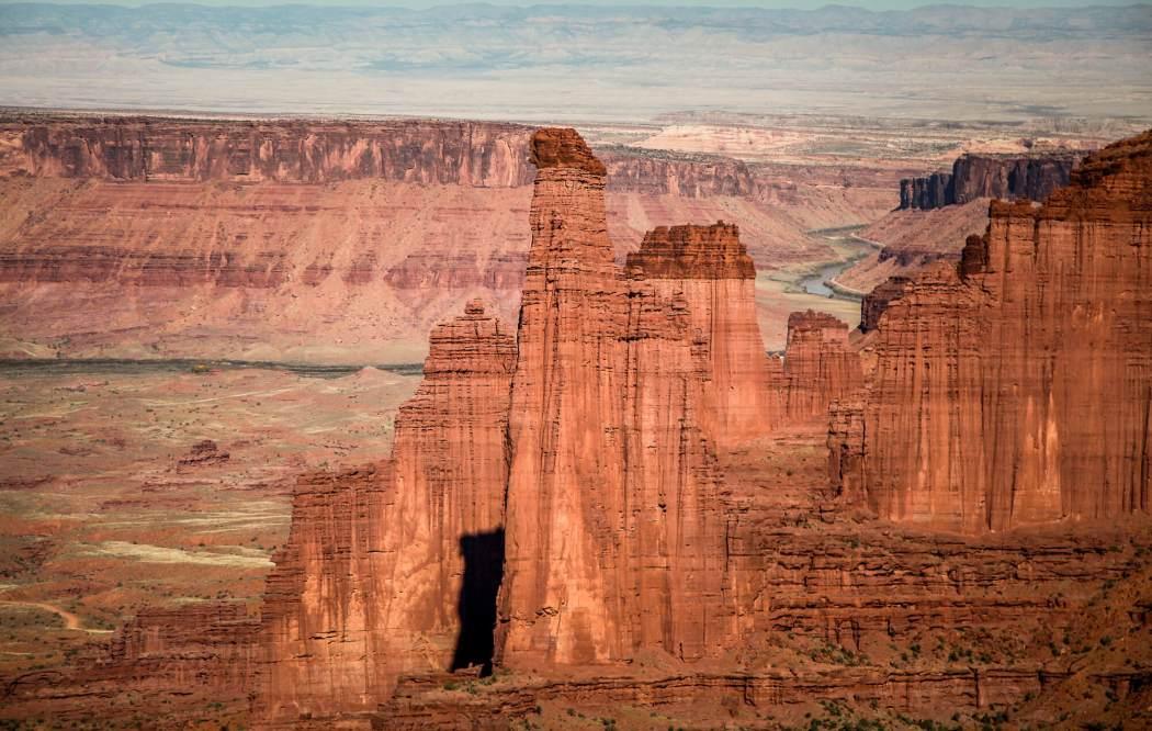 Fisher Towers Utah closeup