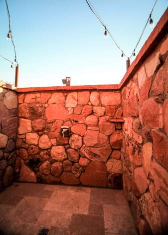 Gateway Canyons outdoor shower