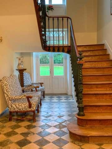 Château de Damigny stairs
