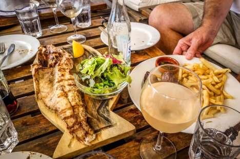 fish on plancha Parador La Huella