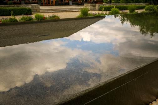 Schloss Elmau cloud reflections