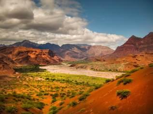 river and valley view Quebrada de las Conchas