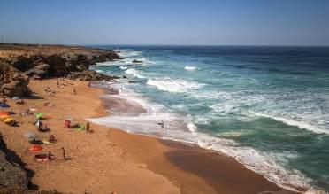 Praia do Guincho crashing waves
