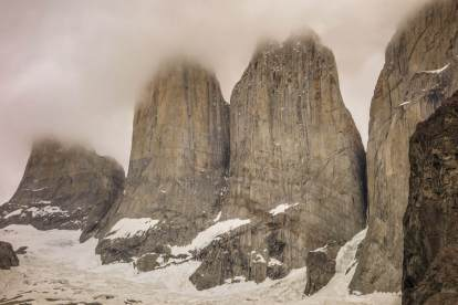 closeup of The Towers Patagonia