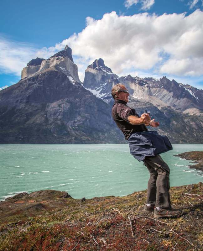 high winds Torres del Paine