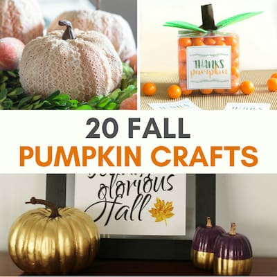 Spruce Up That Pumpkin! 20 Modern Pumpkin Crafts