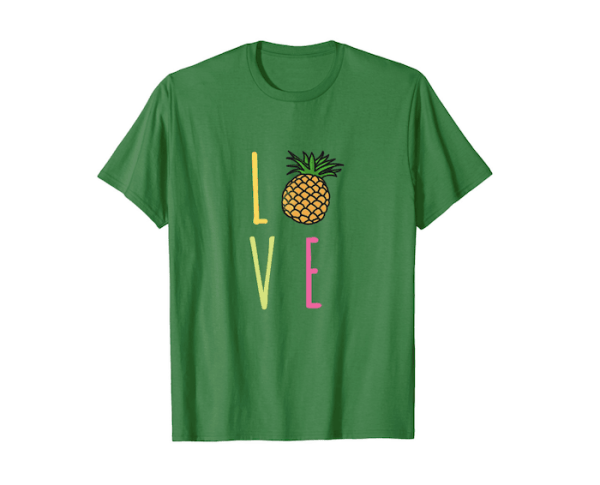 "Pineapple ""O"" LOVE Green T-shirt"