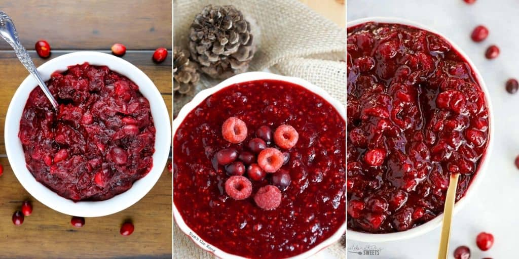 Cranberry sauces collage
