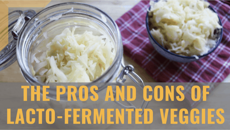 pros and cons of lacto-fermented veggies header image