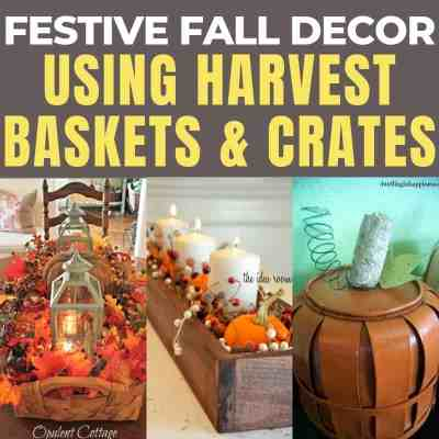 18 Fall Decorating Ideas Using Baskets Or Crates