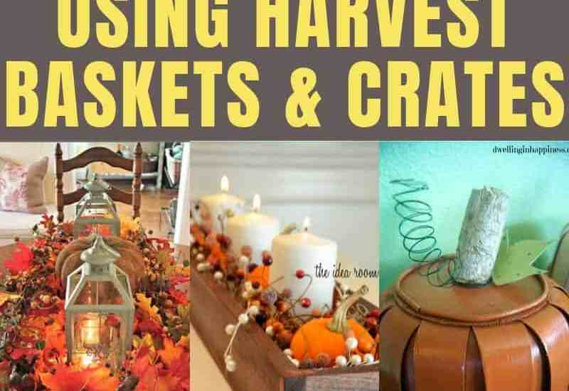 festive fall decorating ideas using harvest baskets featured image