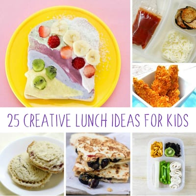 25 Healthy And Creative Kids Lunch Ideas