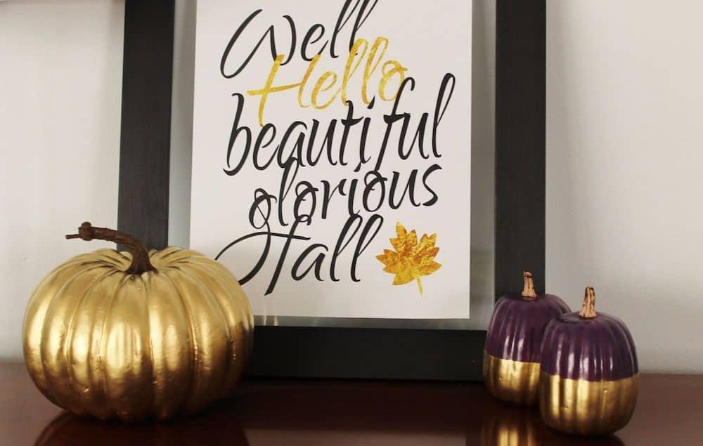 Painted pumpkin decor craft DIY