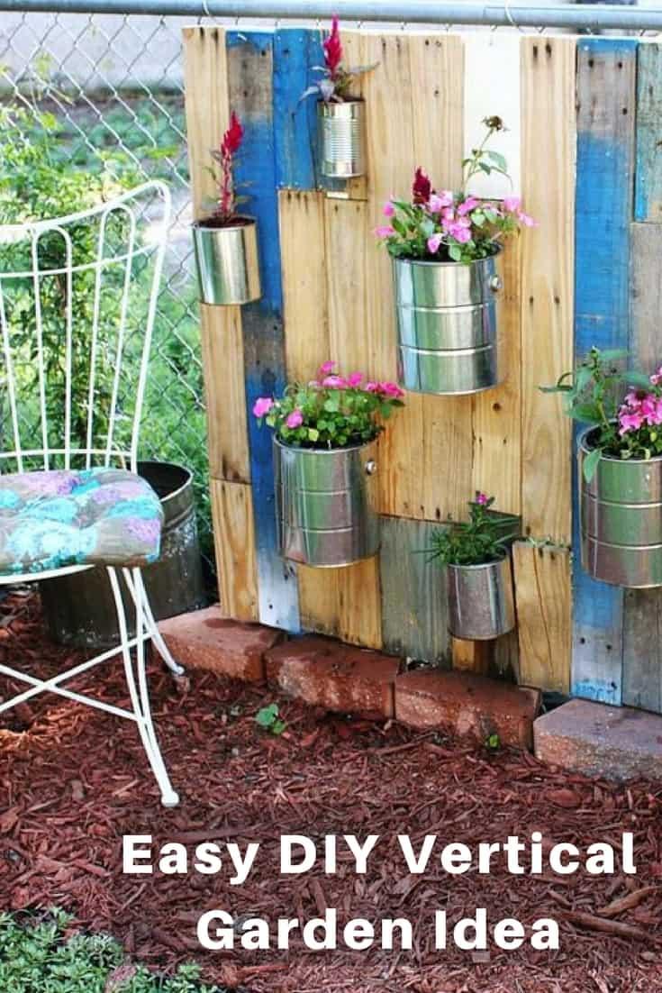 Easy DIY Vertical Garden Idea