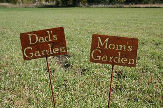 Totally custom garden markers