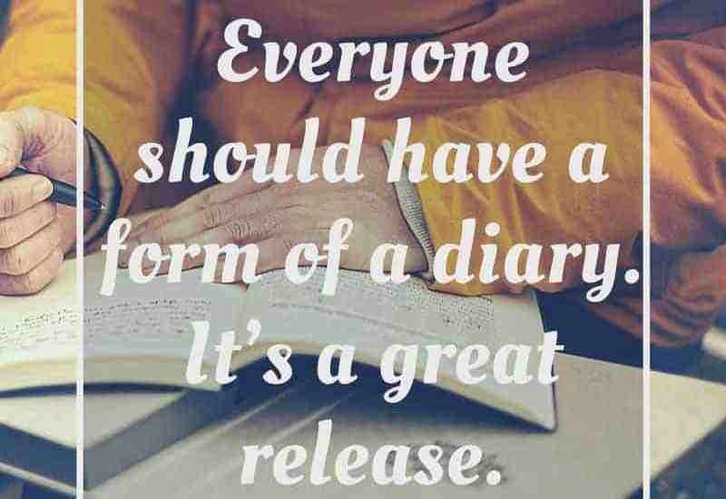 Everyone should have a form of a diary. It's a great release.