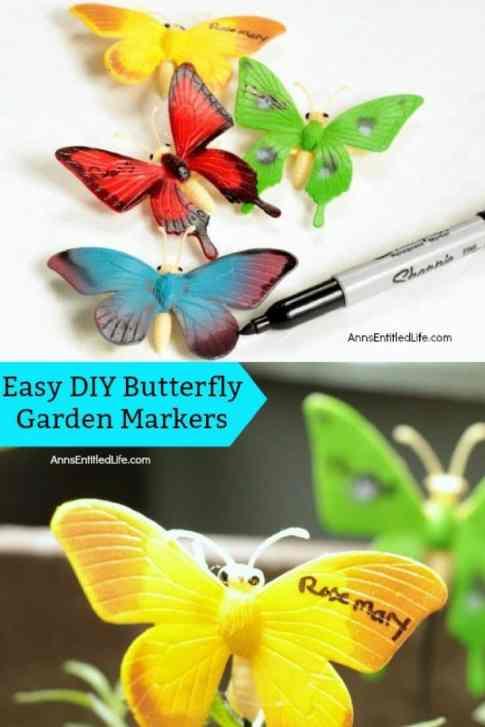 garden markers easy diy butterflies