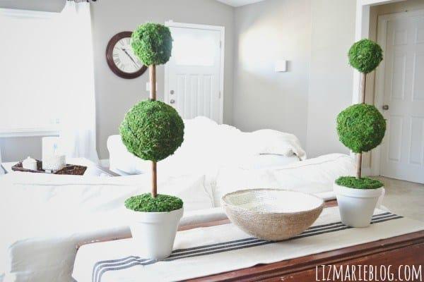 Moss decor: diy topiaries modern farmhouse decor