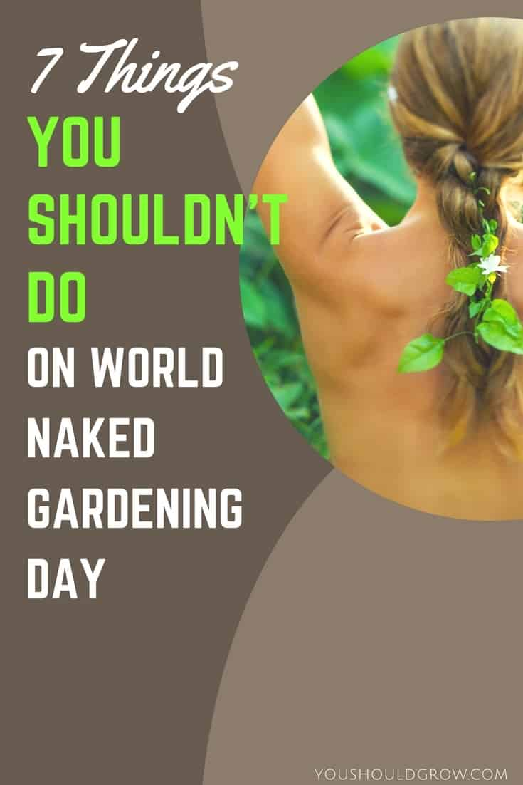World Naked Gardening Day - If you're thinking of celebrating, make sure you consider these words of wisdom. While many gardeners opt to cover their goodies with foliage, others were more creative. And it made me think about some of the things I would definitely NOT do on WNGD.