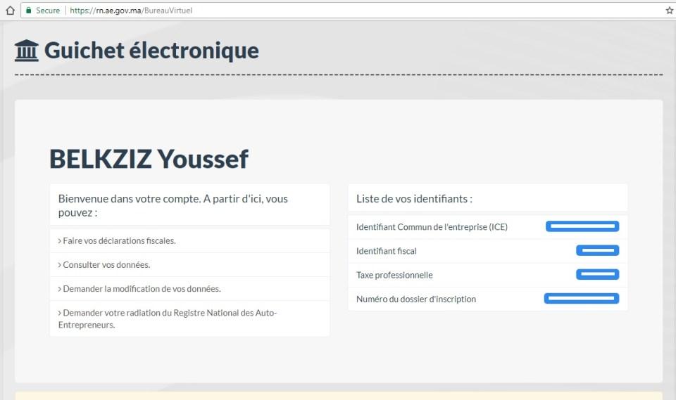 Télé-déclaration auto-entrepreneur marocain