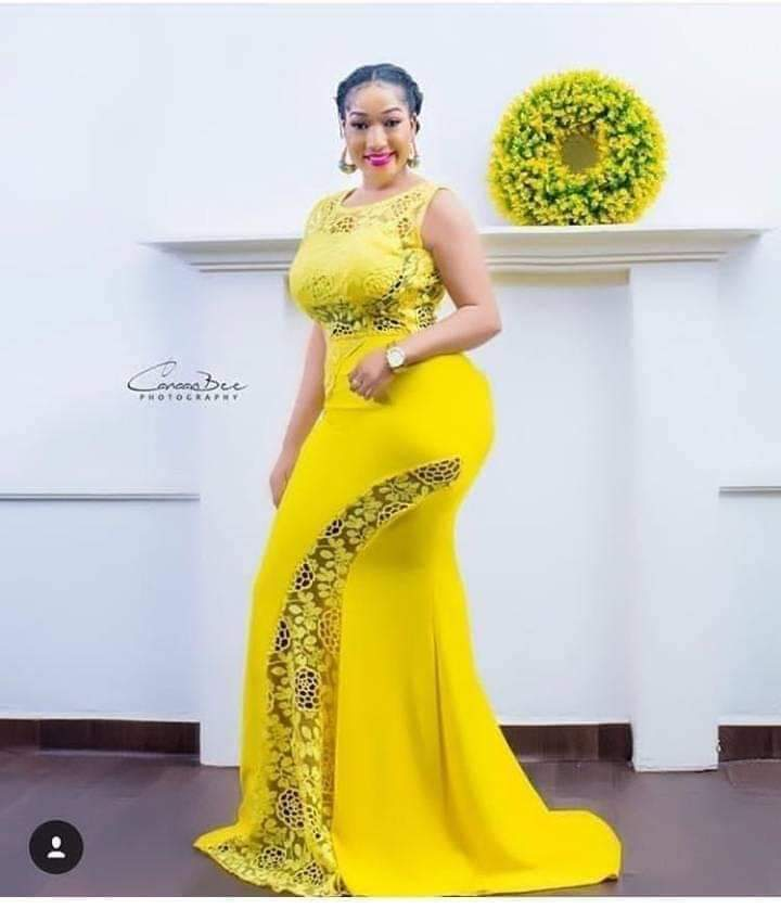 yellow asoebi lace styles