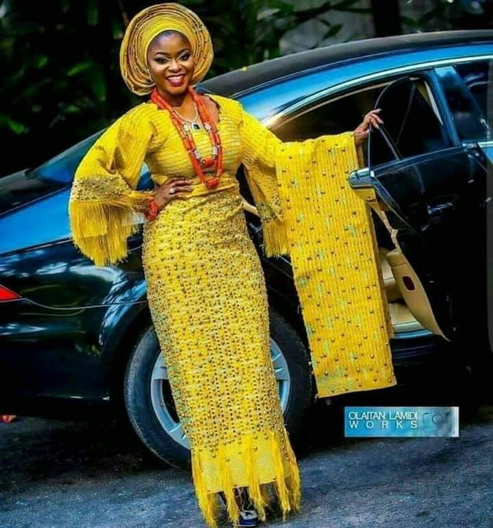 yellow lace styles for wedding