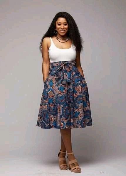 Ankara skirt with crop top