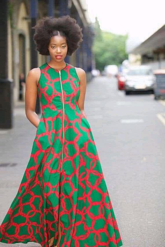 casual ankara maxi dress
