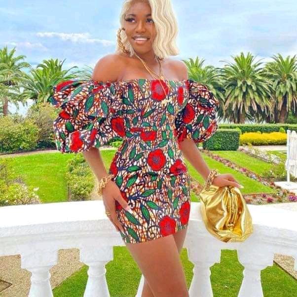 off shoulder Ankara dresses