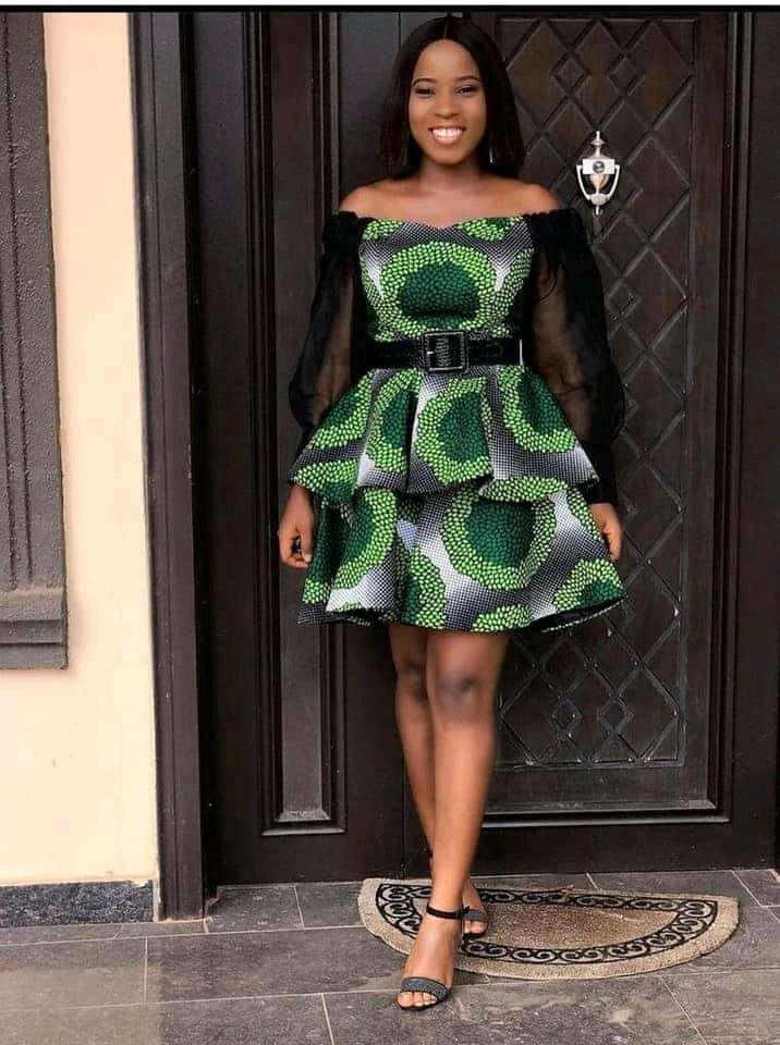Ankara off shoulder dresses