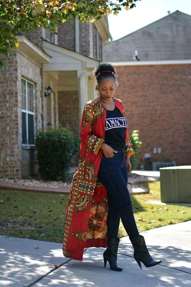 kimono jacket with skin tight