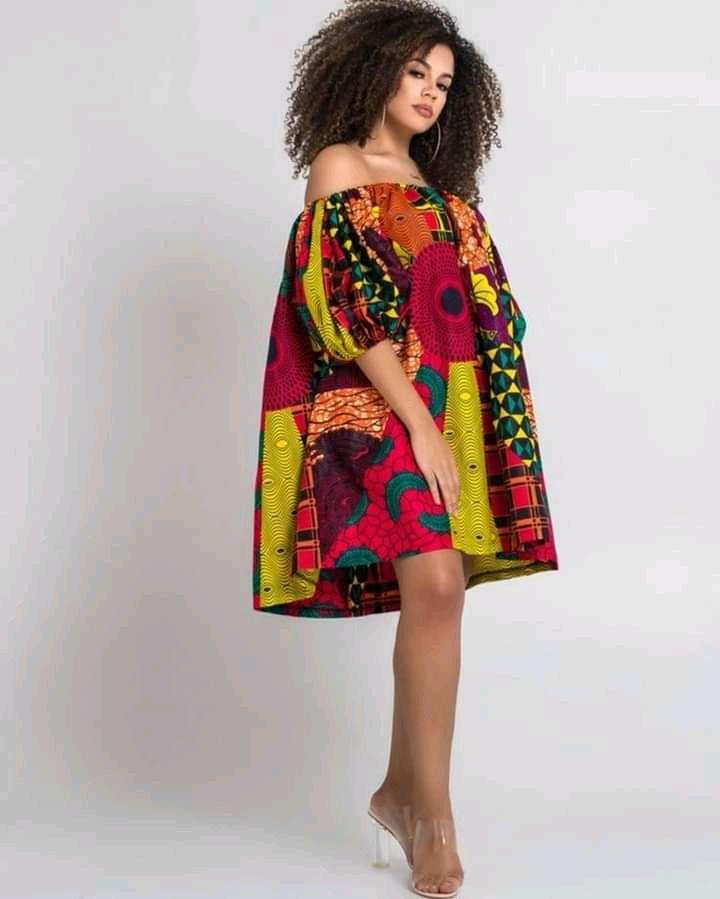 off shoulder flare gown