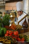 Chefs preparing the buffet