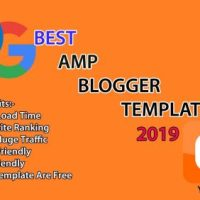 AMP Blogger Template Free 2019 To Increase Site Load Time
