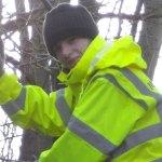 Adam Kelly trainee gardener at Midlothian Garden Services