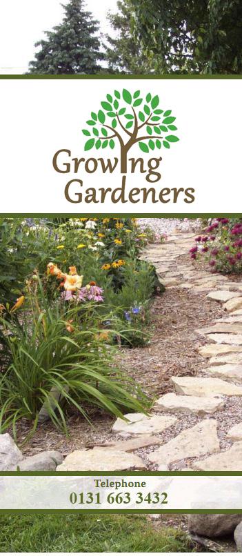 Growing Gardeners Midlothian Garden Services Telephone 0131 663 3432