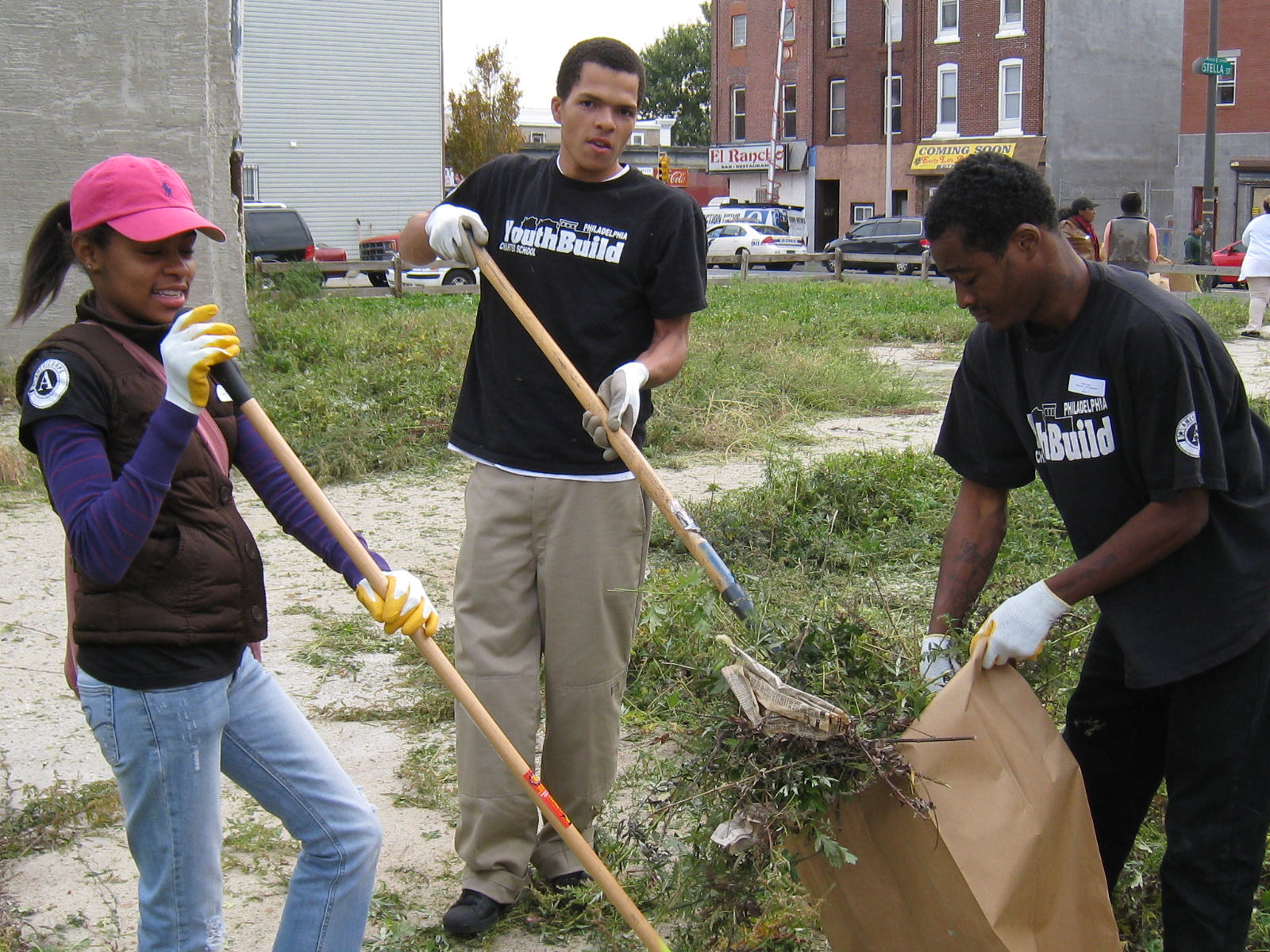 Lot Clean-up for Make a Difference Day