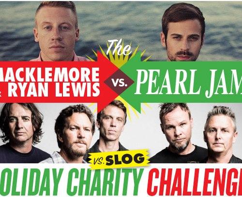 Graphic of Macklemore & Ryan Lewis vs Pearl Jam