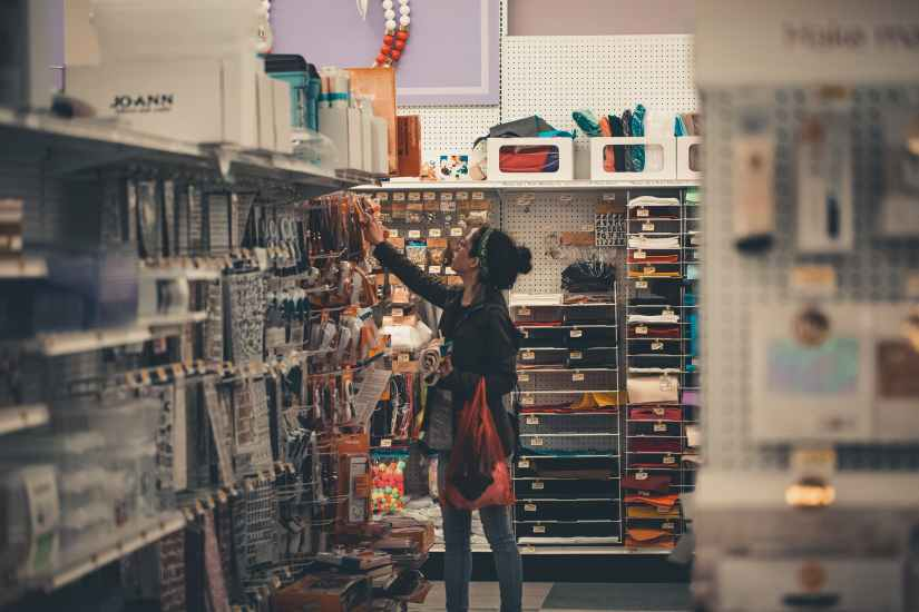 young person shopping